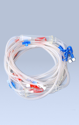 Hemodialysis blood tubing set